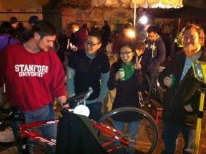 Volunteers and Bike Clinic fans at SJBC's first public Skill Share, Jan 2013