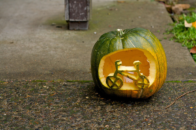 Bicycle Jack-o-lantern
